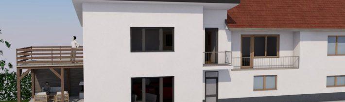 Prístavba k rodinnému domu – Kľušov