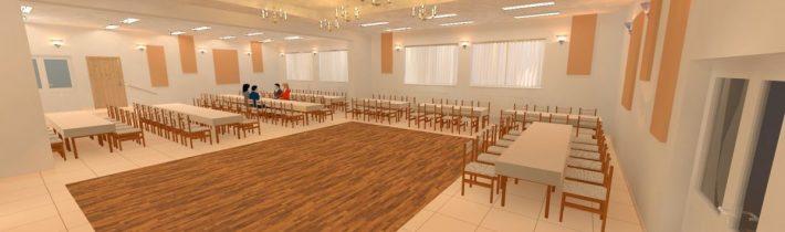 Návrh interiéru sály KD Tročany