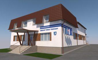 Návrh fasády budovy OcÚ Tročany