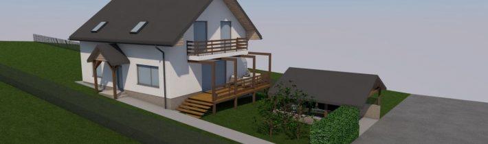 Projekt novostavby rodinného domu – Hervartov 2019